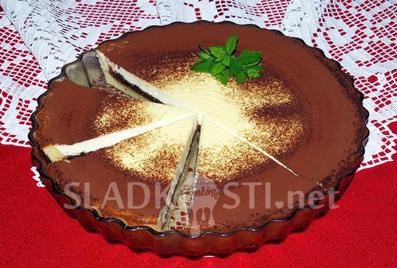 Křehký koláč s mascarpone a čokoládou