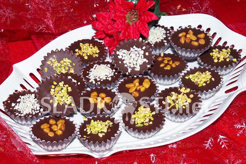 Nepečené čokoládové košíčky - šuhajdy