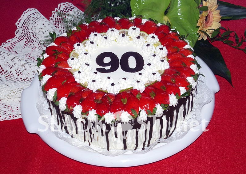 Ovocný dort k devadesátinám