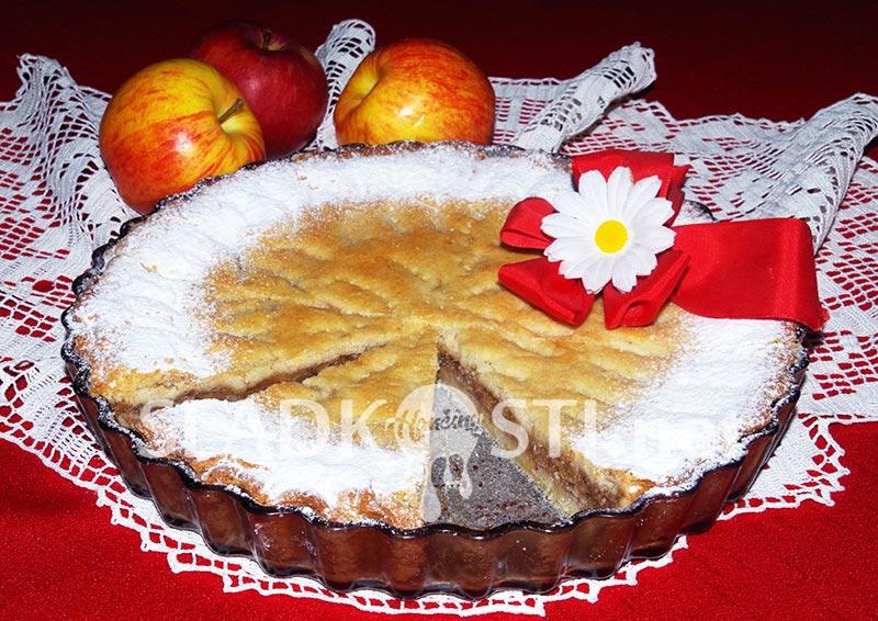 Sádlový jablečný koláč bez vajec