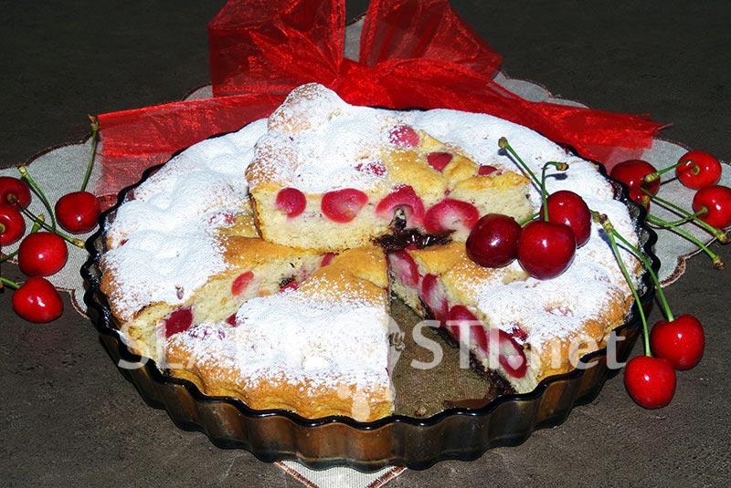 Třešňový koláč s čokoládou