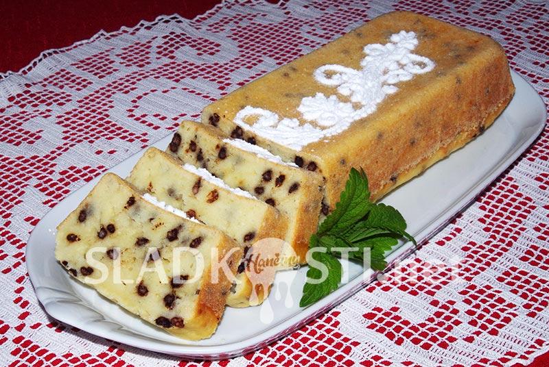 Tvarohový chlebíček s čokoládovými křupinkami